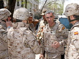 El JEMAD, Almirante General Sánchez visita Kabul, Herat y Qala i naw