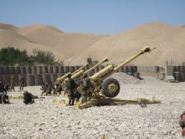 El ejercicio de tiro permitió evaluar la capacidad afgana