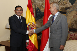 Pedro Morenés recibe al viceministro de Defensa de Indonesia
