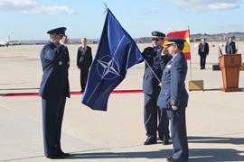 El ministro de Defensa inaugura el Centro de Operaciones Aéreas Combinadas de la OTAN en la Base Aérea de Torrejón
