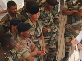 Militares de Cabo Verde en una reciente visita a España.